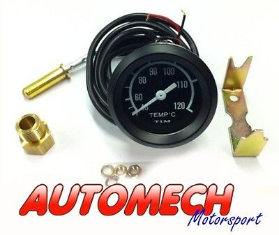 Tim Water Temp Temperature Gauge 52mm Complete Kit Inc Fittings & Pipe (700004)