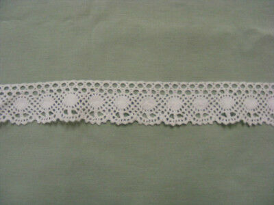 Cluney Cotton White Lace  x 10 mts  40mm Wide  (0097)