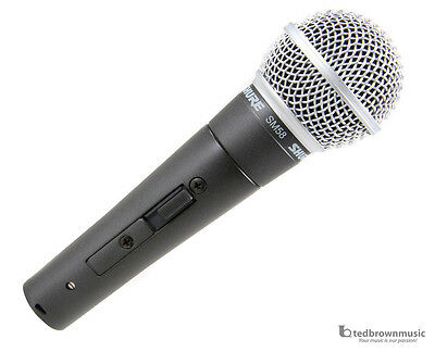 Shure SM58s Dynamic Handheld Vocal Microphone w/ On/Off Switch