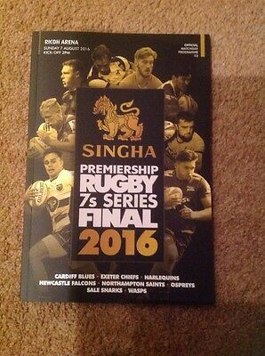 SINGHA PREMIERSHIP RUGBY 7s SERIES FINAL 2016 OFFICIAL MATCHDAY PROGRAMME