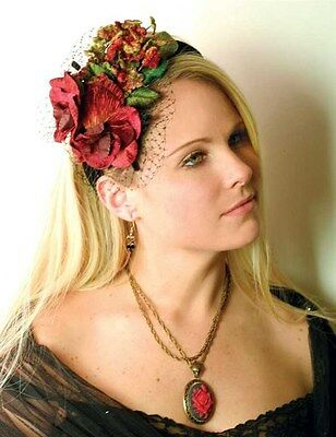Victorian Trading Co Floral Fascinator Headband Hat