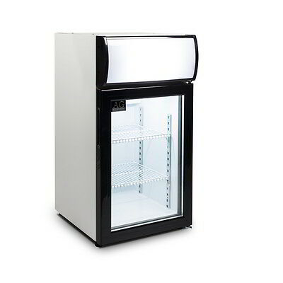 Brand New Counter top Benchtop Display Fridge Cake Food Drinks With lights 50L