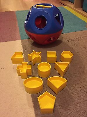 Vintage Retro 1970s Tupperware Shape O Ball Sorter Toy Complete With 10 Shapes