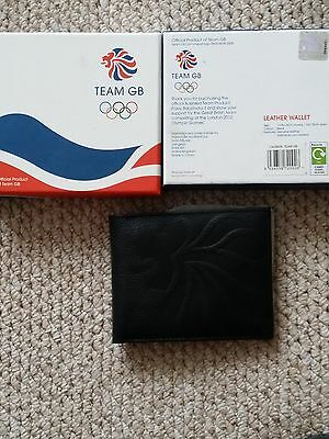 Official Team GB Leather Wallet London 2012 Olympics  in Presentation Box