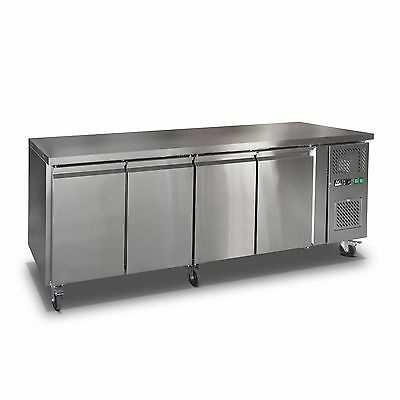 Commercial 4 Door Fridge Work Counter Or Under Bench Stainless Steel