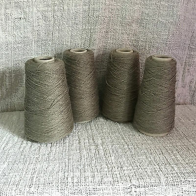 Yeoman Yarns Sari Linen Cotton Cone Sage Green on 4 Cones 3 ply 840g