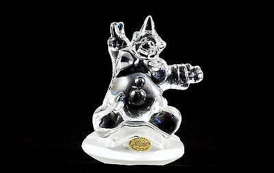 Lovely Clear French Glass Paperweight Of A Clown