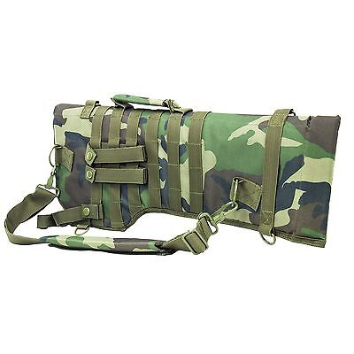 New! NcStar Tactical Rifle Scabbard Woodland Camo Model: CVRSCB2919WC