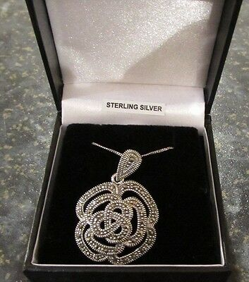 Sterling Silver Marquisette Necklace Pendant New In Box