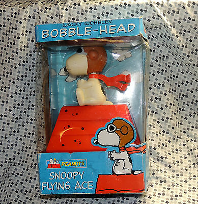 Snoopy Peanuts red baron flying ace Funko Wacky Wobbler bobble-head, HUGE