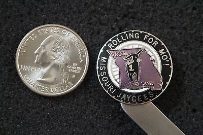 Missouri Jaycees Rolling For Mo' You're The One Jack Donkey Hat Lapel Pin #4839