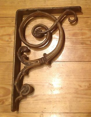 "Vintage Antique 3 Large shelf brackets 14"" X 9 1/2"" architectural  Cast Iron"