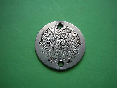 1875 Seated Liberty Dime Fancy Engraved Love Token Charm Family Heirloom