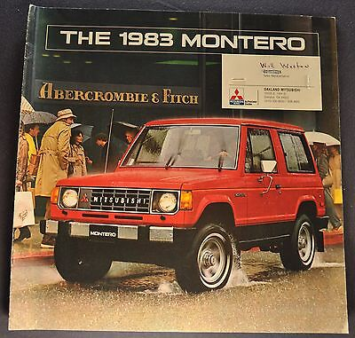 1983 Mitsubishi Montero Catalog Sales Brochure 4x4 Excellent Original 83