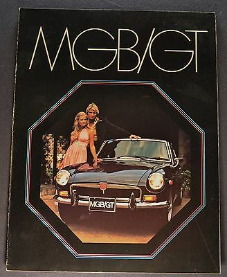 1973 MG MGB/GT Catalog Sales Brochure Excellent Original 73