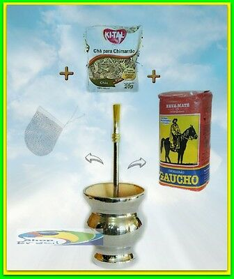 YERBA MATE + PC5 kit mate Brasil, WOOD COATED ALUMINIUM + pump + TEA + FILTER