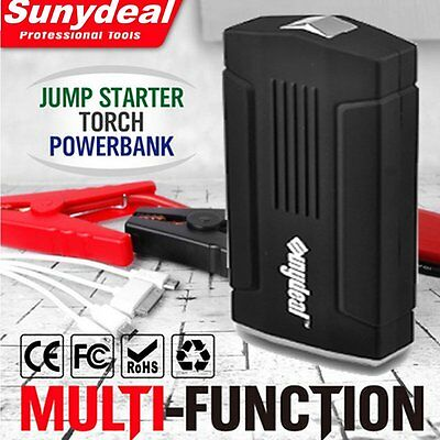 AU 68800mAh Multi-Function Car Battery Jump Starter USB Power Bank Pack Charger