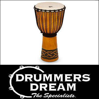 """Toca Origins Series Rope Tuned Wood 12"""" Djembe- Celtic Knot Finish  RRP $299"""