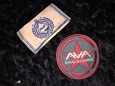 Angels And Airwaves Band Embroidered Iron Or Sew On Patches AvA Blink 182 W/ Tag