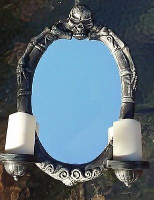 Gemmy animated haunted mirror Halloween prop with  Lighted Candles