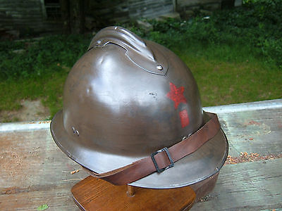 Ww2 Era French Made M-26 Scw Used Helmet
