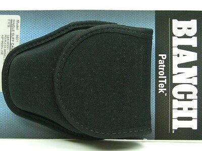 BIANCHI Black 8001 PATROL TEK Single Handcuff Cuff Case w/ KEY Slot New! 31348
