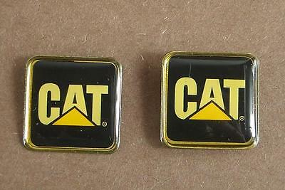 Vintage CAT Caterpillar Hat or Lapel Pin x 2 Union Made in U.S.A
