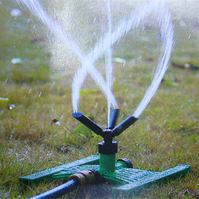 360° Rotating Lawn Farm Sprinklers Irrigation System Garden Plant Yard Watering