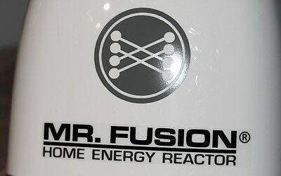 MR. FUSION Home Energy Reactor Back to the Future decals stickers Krups grinder