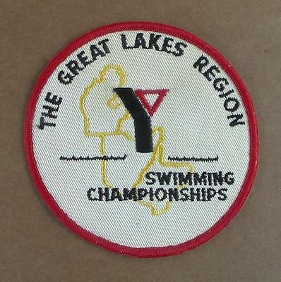 Vintage YMCA or YWCA Great Lakes Region Swimming Championships Embroidered Patch