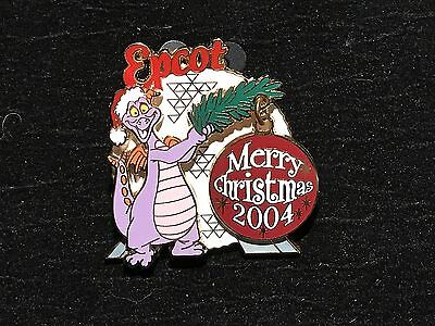 Disney WDW Figment Merry Christmas 2004 Epcot Dangle pin LE 3000