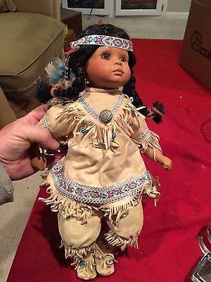 Native American Porcelain Doll 1998 256/2500