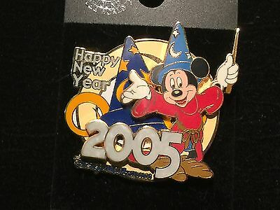 Disney WDW MGM LE 2000 Happy New Year 2005 Sorcerer Mickey pin