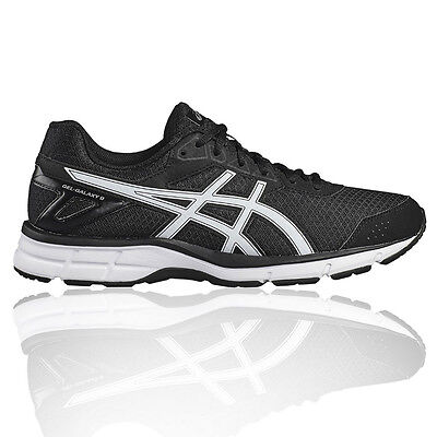 Asics Gel Galaxy 9 Mens Black Cushioned Running Road Sports Shoes Trainers