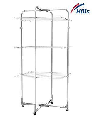Hills 3 Tier Airer Premium Clothes Line Drying Rack Horse Dryer Clothesline New