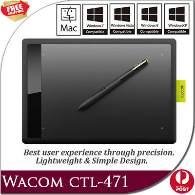 WACOM ONE CTL-471 Bamboo Splash Tablet Drawing Small Pen for PC/ Windows / Mac