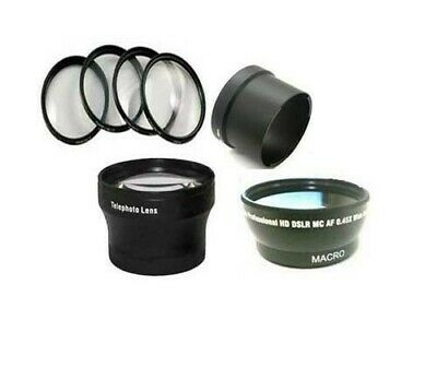 Wide Lens + Tele + Macro Close Up + Tube for Canon Powershot A610 A620 A630 A640