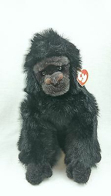 """TOYS: Ty Baby George 1995 Stuffed Gorilla Retired 10"""" w/Tags"""