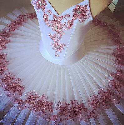 Classical Ballet tutu White/dusty pink - child 12