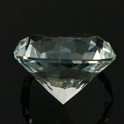 40mm Crystal White Paperweight Cut Glass Large Giant Diamond Jewelry Gift