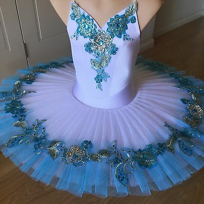 Classical Ballet tutu White/Turquoise - child 10