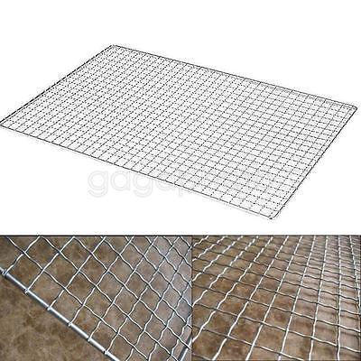 20 x 50cm BBQ Grill Wire Mesh Net Grid Camping Barbecue Tool For Indoor/Outdoor