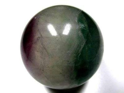 231g 52 MM Natural GREEN FLUORITE CRYSTAL SPHERE x0016
