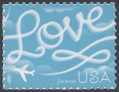 #5155 (47c Forever) Love Skywriting 2017 Mint NH