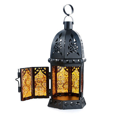 Glass Metal Moroccan Delight Garden Wedding Candle Holder Table/Hanging Lantern
