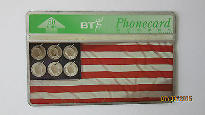 BT Phonecards - Flying The Flag - Number 1 Of 8 - USA - 50 Units