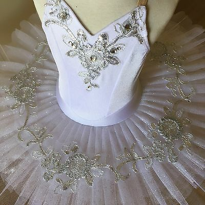 Classical Ballet tutu White/Silver - Child 6
