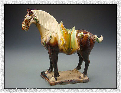 Rare Wonderful Magnificent Rare China Tang SanCai Glaze Pottery Horse
