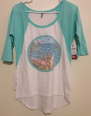 Rip Curl Girls Teen Youth Surf Sisters Baseball-Tee Top Shirt Size Small mint