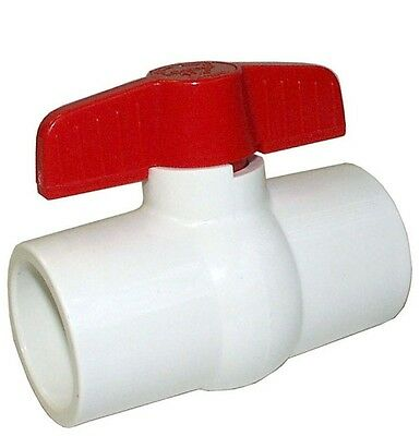 "PVC BALL VALVE 2"" 50mm SOLVENT SLIP END"